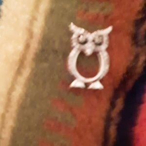 Sterling Silver and Diamond chip owl